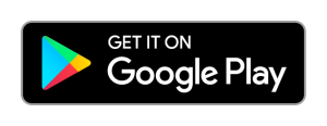 """Google Play Store multi-colour icon. Black backround with white text, """"GET IT ON Google Play."""""""